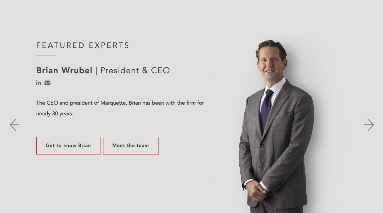 Marquette Associates Expert Panel Design by Blue Flame Thinking