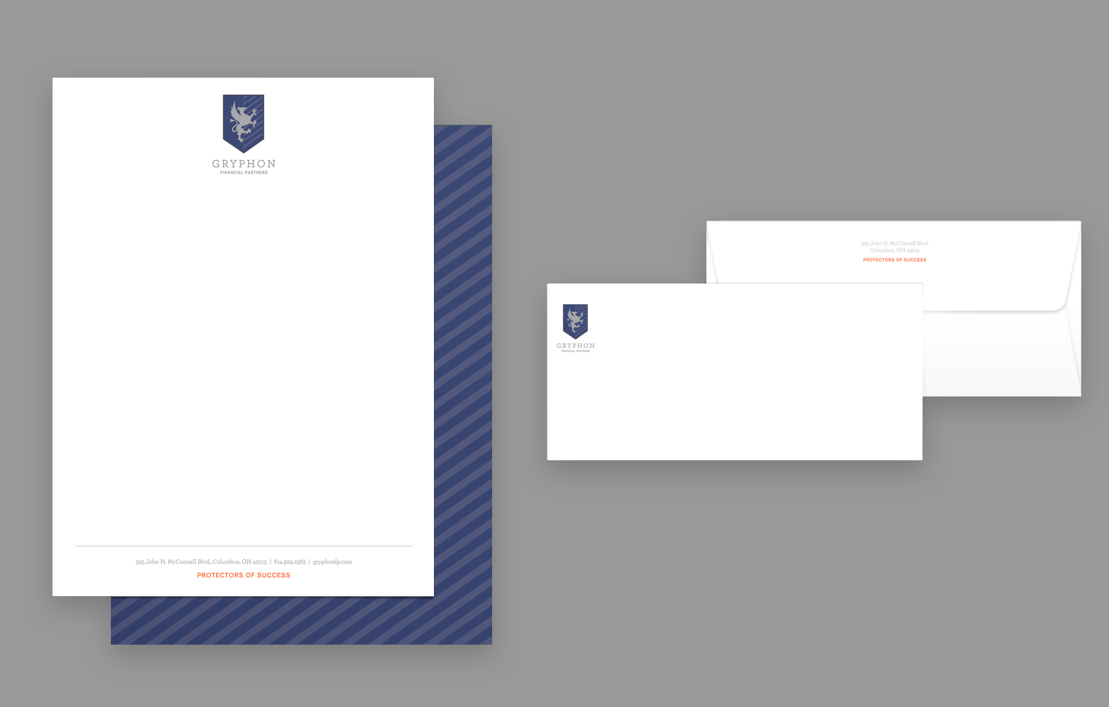 Gryphon Financial Partner's Stationary Design by Blue Flame Thinking