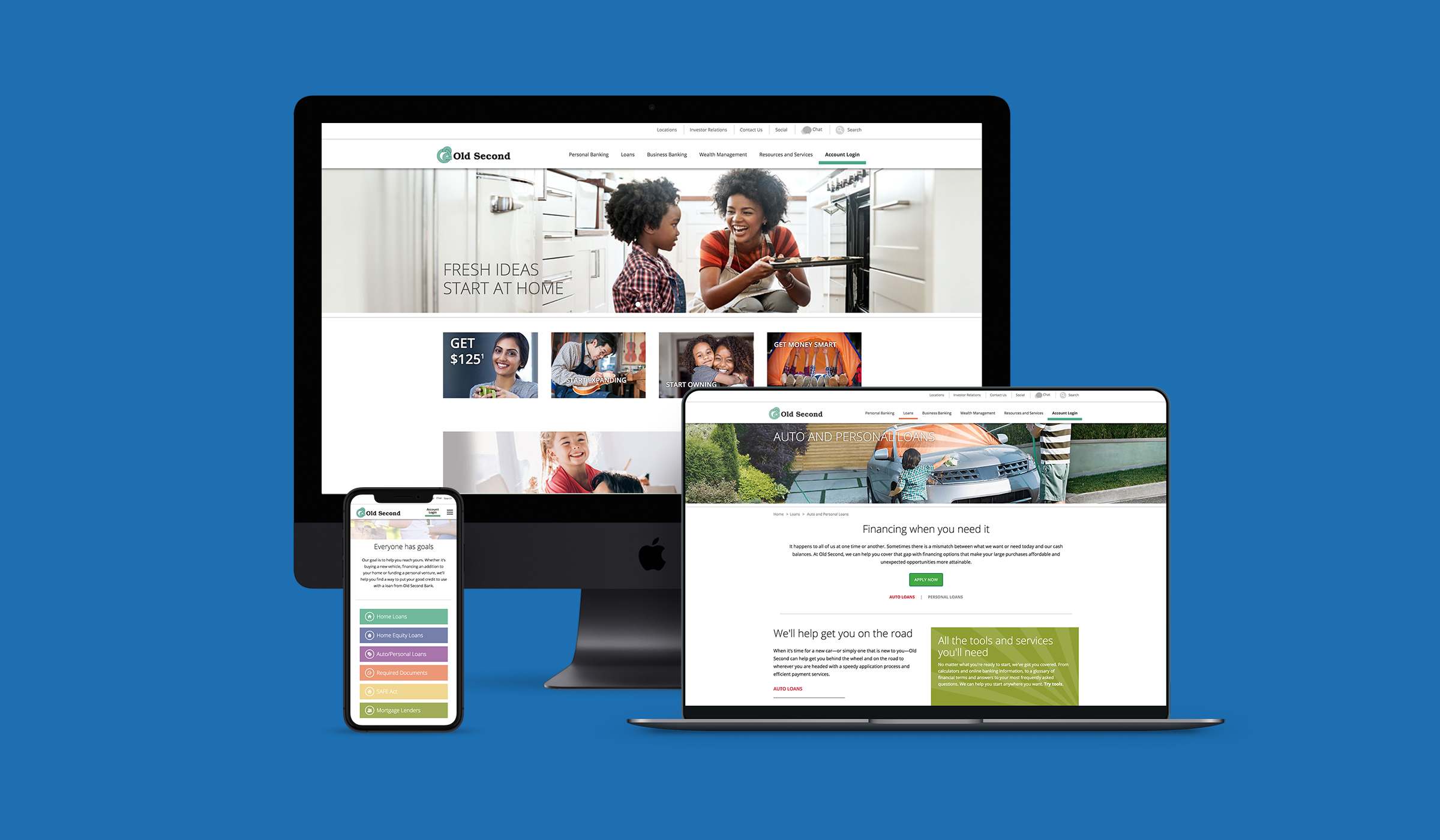 Old Second Bank Website Responsive Design By Blue Flame Thinking