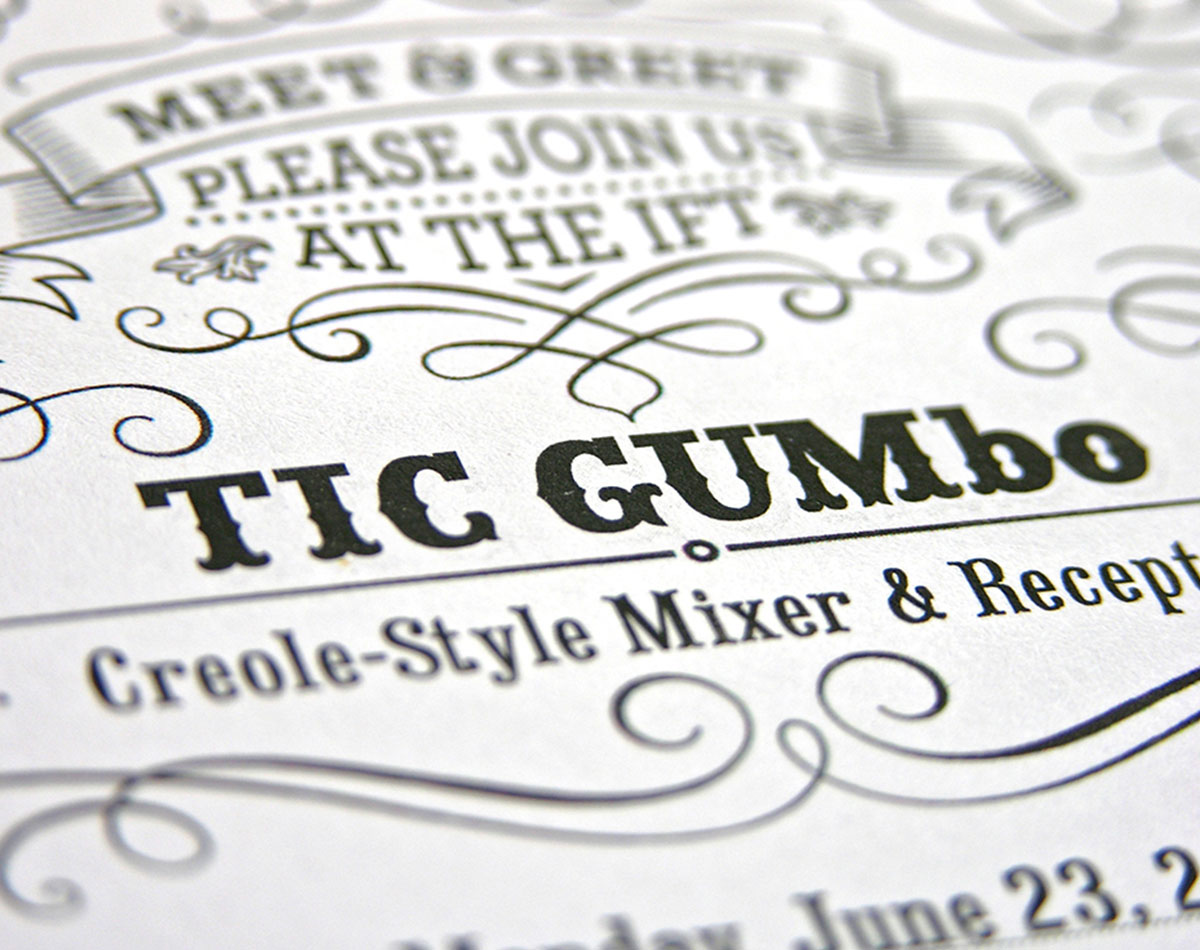 TIC GUM's industry event invitation created by Blue Flame Thinking.