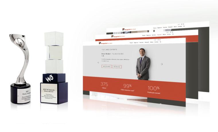 Marquette Associates wins awards for new website
