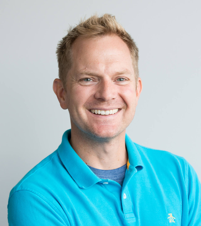 Bio shot of Adam Rice, Design Director at Blue Flame Thinking.