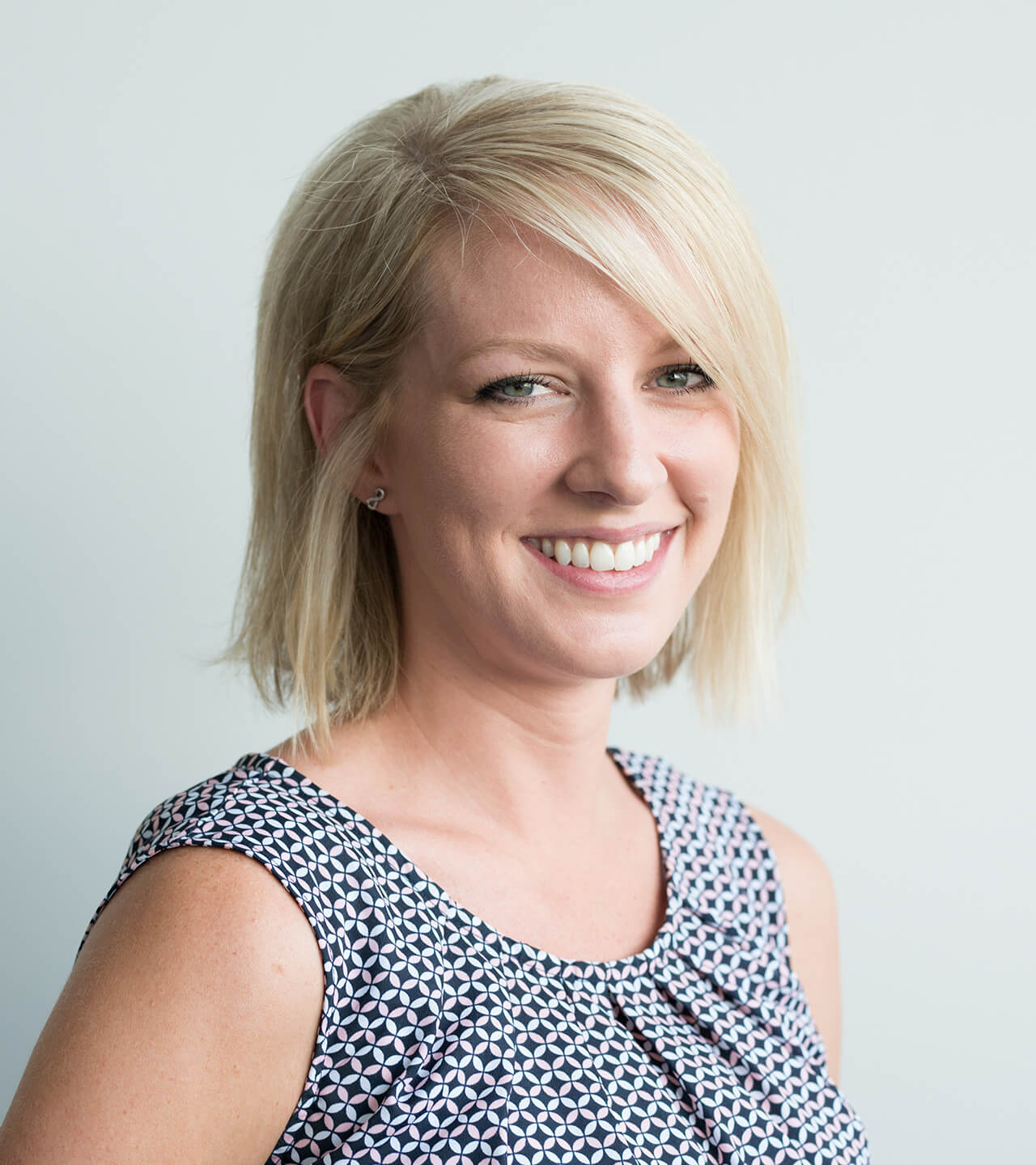 Bio shot of Rebecca Forrester, Digital Project Manager for Blue Flame Thinking.