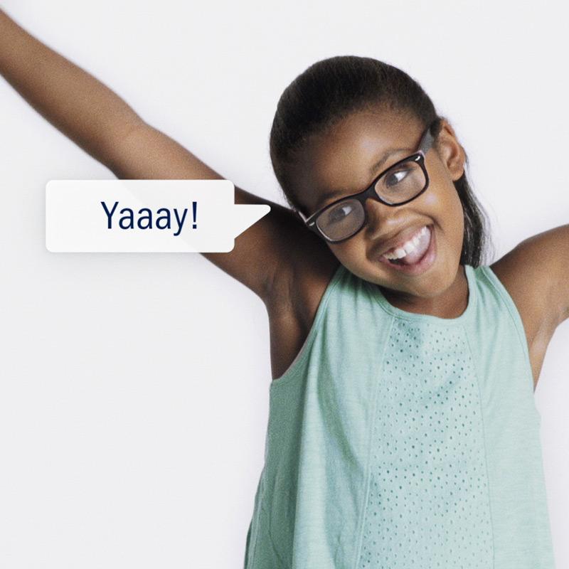 Amway Child's Play image of child saying Yaay!