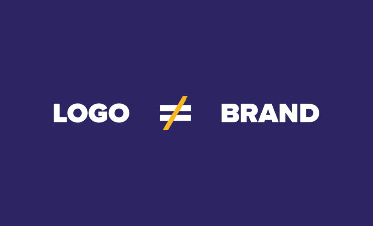 Logo does not equal brand by Blue Flame Thinking