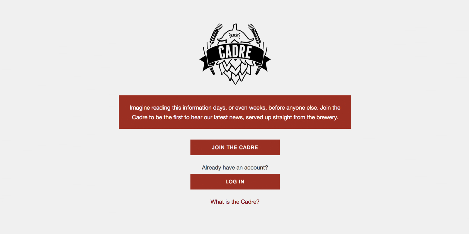 Join the Cadre for Founders brewing Co.