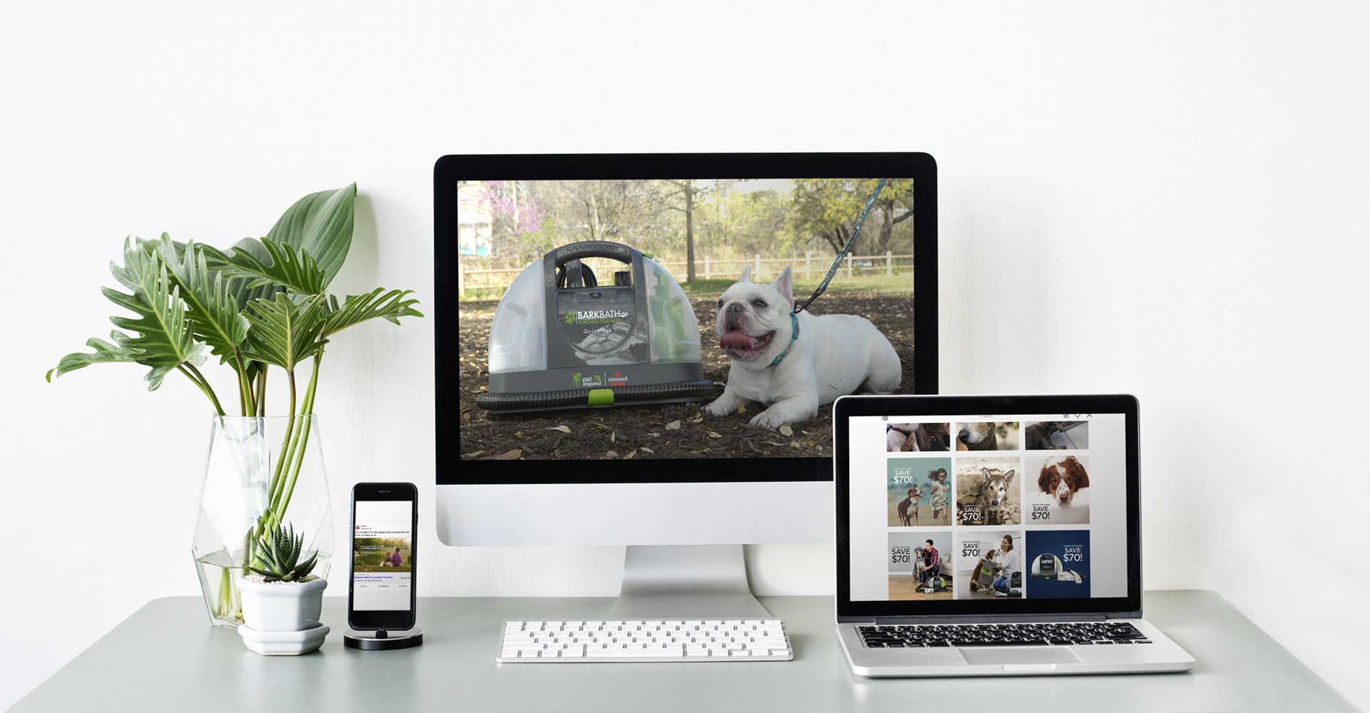 BISSELL BARKBATH™ Product Launch Campaign banner image by Blue Flame Thinking