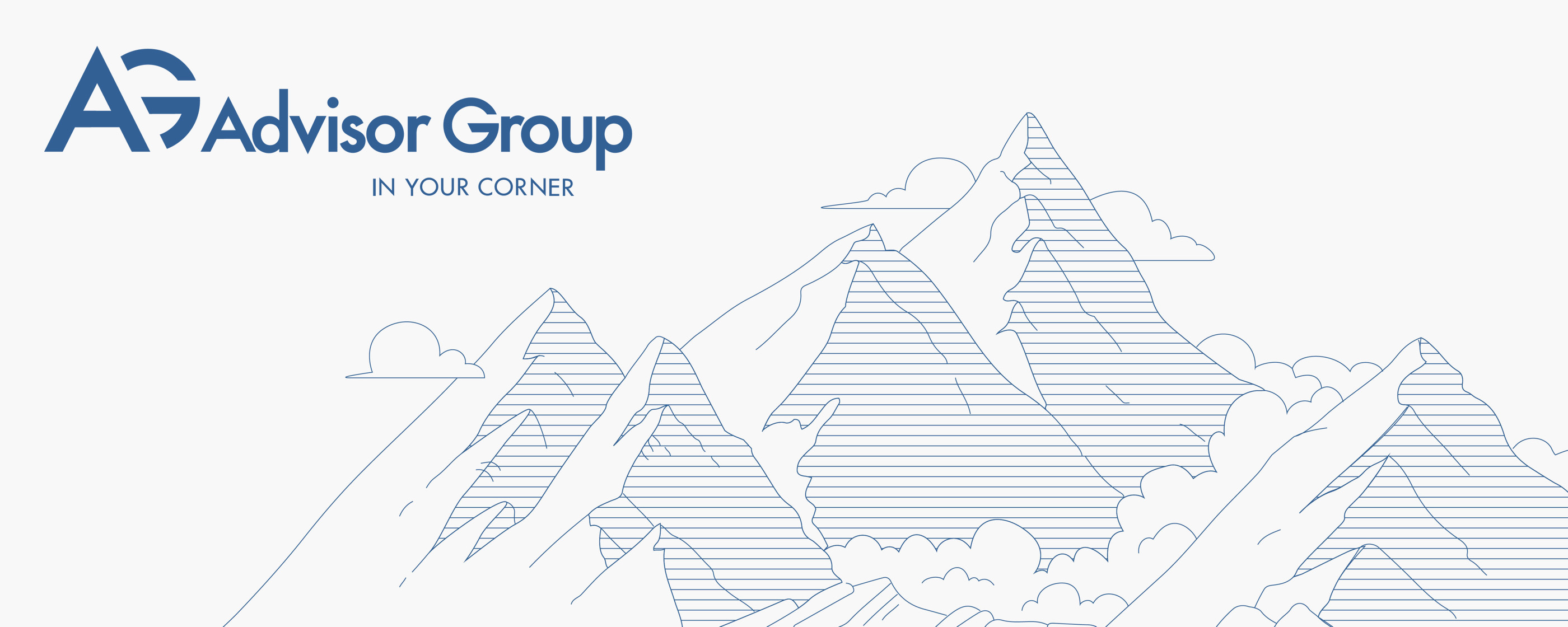 Advisor Group Branding Work Header by Blue Flame Thinking