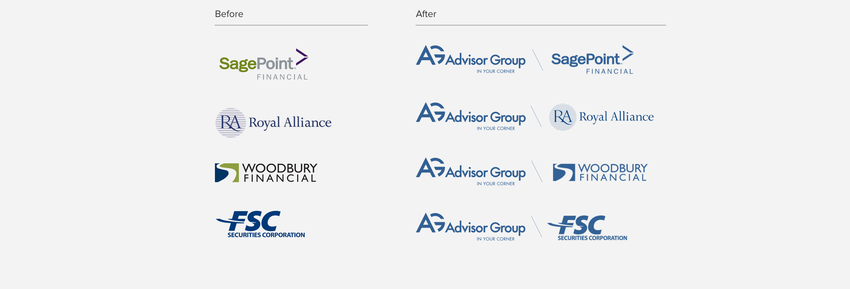 Advisor Group Brand Guideline Logos by Blue Flame Thinking