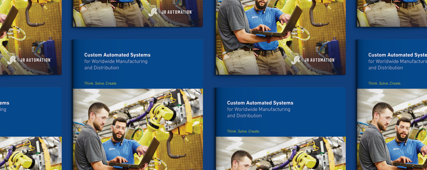 JR Automation Global Capabilities Brochure Banner by Blue Flame Thinking