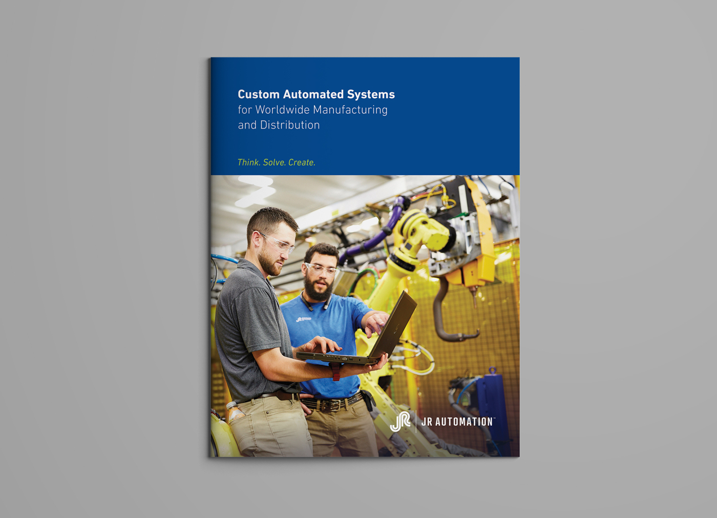 JR Automation Global Capabilities Brochure Cover by Blue Flame thinking