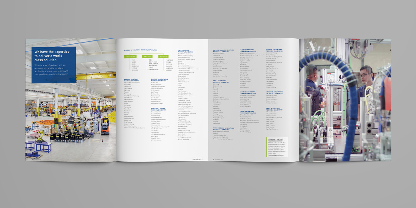 JR Automation Global Capabilities Brochure Gate Fold by Blue Flame Thinking