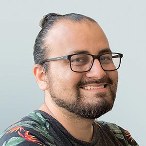 Designer Daniel Gallegos Headshot at Blue Flame Thinking