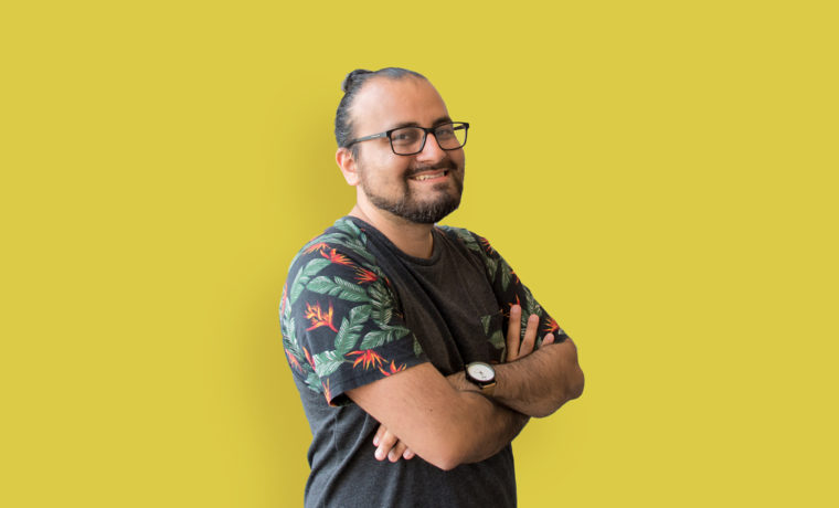 Headshot of Blue Flame Thinking Designer Daniel Gallegos