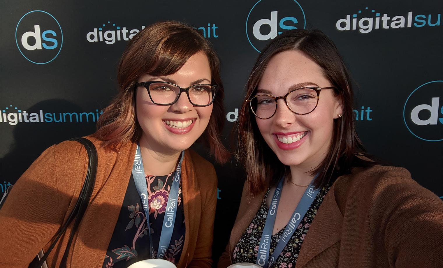 Eryn and Rachel at Detroit Digital Summit Top Takeaways Blog Picture