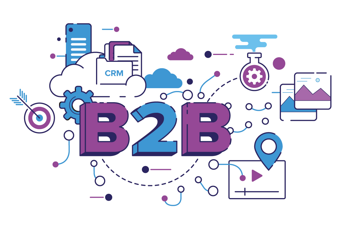 Illustration of B2B services being interconnected