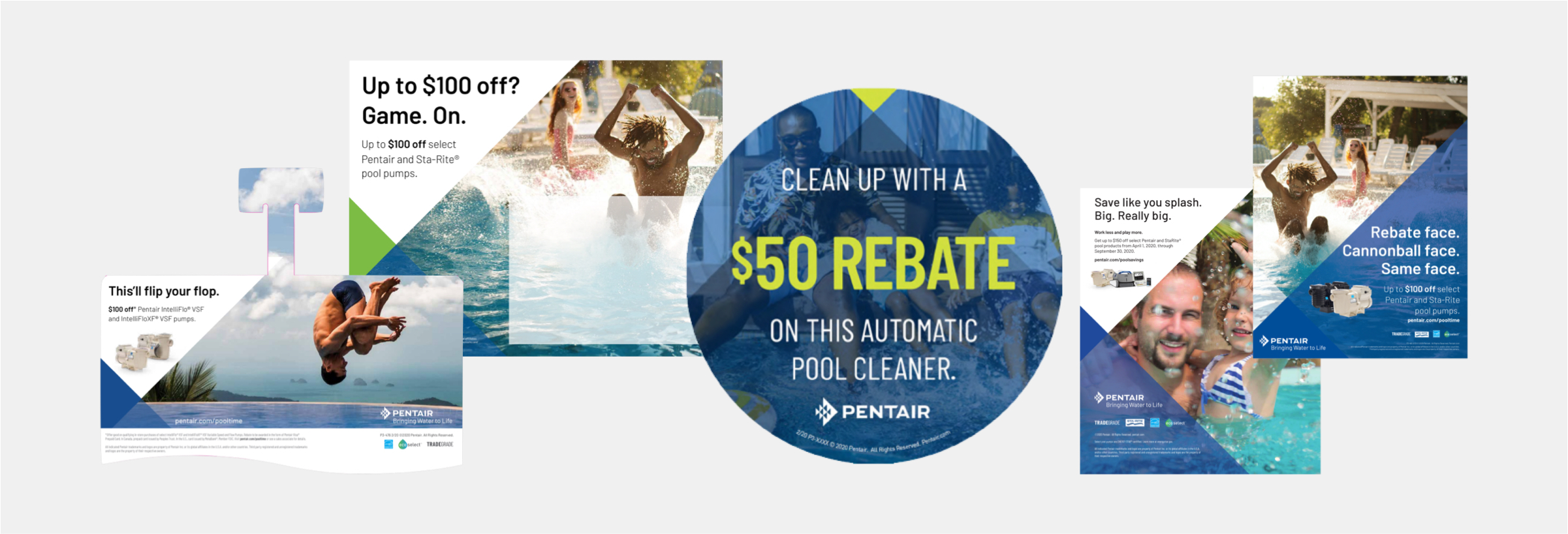 Blue Flame Thinking's digital rebate campaign examples for Pentair
