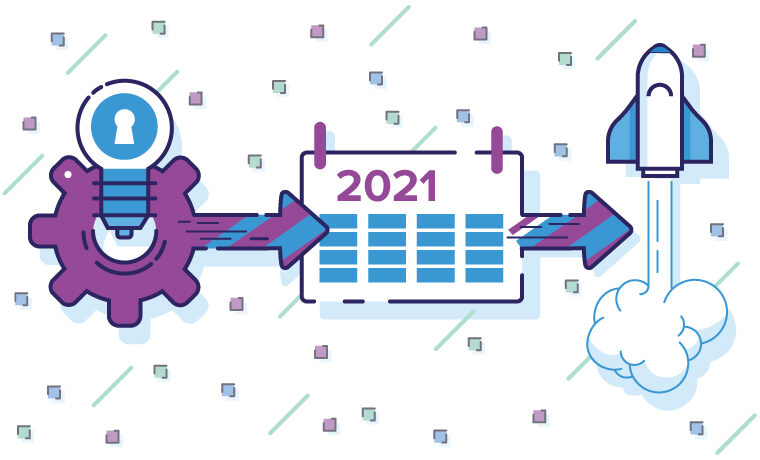 Illustration of 2021 planning and launching processes