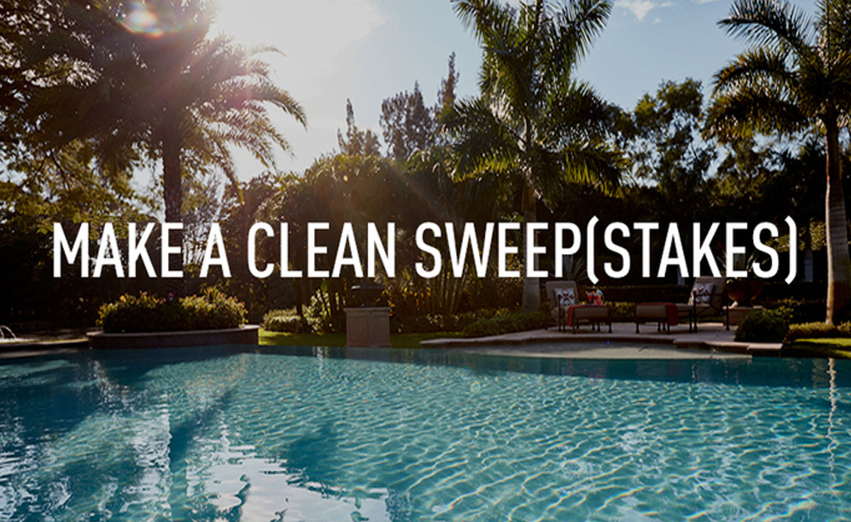 Make a Clean SweepStakes example of BFT's rebate campaign for Pentair