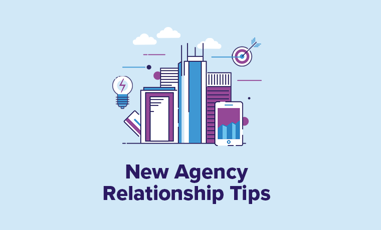 New Agency Relationship Tips Blue Flame Thinking Illustration